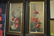 Sale 8214 - Lot 2063 - Pair Of Rose Still Lives, various sizes