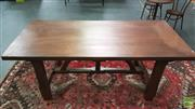 Sale 8305 - Lot 1015 - Timber Based Table with 3mm Solid Copper Top