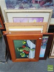 Sale 8449 - Lot 2006 - Collection of (7) original artworks by Rita Sheather, various sizes and framed.