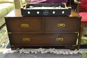 Sale 8520 - Lot 1099 - Low Lying Oriental Chest of Three Drawers