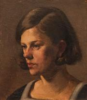 Sale 8642 - Lot 579 - Attributed to Percival (Percy) Leason (1889 - 1959) - Portait of Youth 35.5 x 31cm