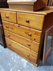 Sale 8740 - Lot 1694 - Pine Chest of Five Drawers