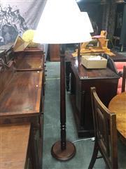 Sale 8839 - Lot 1343 - Pair of Timber Floor Lamps (5480)