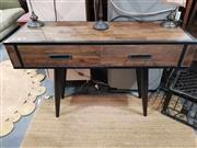 Sale 8912 - Lot 1060 - Rustic 2 Drawer Hall Table