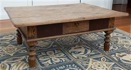 Sale 9191H - Lot 99 - Rustic Timber coffee table, H 47 x L 120 x W 89 cm