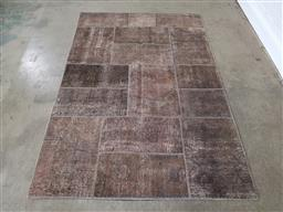 Sale 9255 - Lot 1019 - Handknotted pure wool vintage Persian patchwork (245cm x 165cm)
