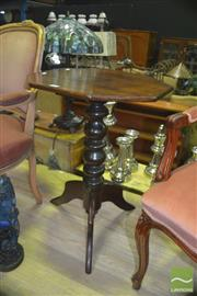 Sale 8331 - Lot 1053 - Antique Cedar Wine Table over Tripod Base
