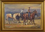 Sale 8382 - Lot 504 - Robert Lovett (1930 - ) - Drovers 39 x 59.5cm
