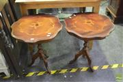 Sale 8398 - Lot 1030 - Pair of Wine Tables
