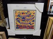 Sale 8437 - Lot 2028 - Lee Ngu (XX) - Dragon Boat Festival frame size: 31 x 31cm
