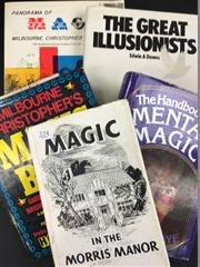 Sale 8539M - Lot 224 - 5 Vols., including The Handbook of Mental Magic by Marvin Kaye, First Edition, good jacket. Panorama of Magic and Magic Book by...
