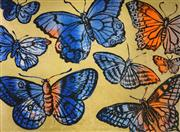 Sale 8592A - Lot 5060 - David Bromley (1960 - ) - Butterflies 54 x 74cm