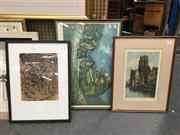 Sale 8659 - Lot 2162 - Three Various Artworks of Differing Sizes -