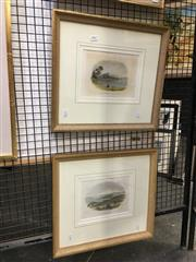 Sale 8754 - Lot 2043 - Pair of hand-coloured lithographs (AF) of C19th Sydney, each 38 x 42cm (frame)