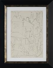 Sale 8936 - Lot 2016 - Desiderius Orban (1884 - 1986) Street Scene, 1968 ink on paper, 33.5 x 24cm, signed and dated lower left -