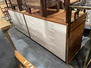 Sale 8893 - Lot 1092 - Pair of Teak Six Drawer Chests