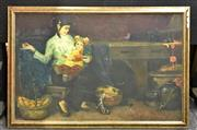 Sale 8945 - Lot 2076 - Chinese School - Mother and Child, Oil on Canvas 102 x 68cm