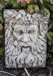 Sale 8972H - Lot 73 - A European composite stone fountain spout of Neptune, Height 60cm x Width 42cm