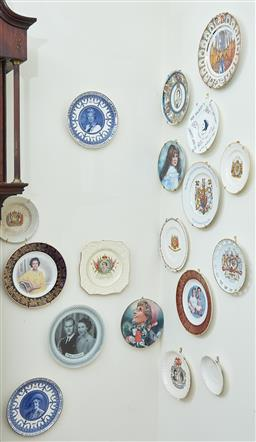 Sale 9103M - Lot 582 - A collection of wall hanging plates related to the British Royal family, largest Diameter 25cm