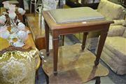 Sale 8165 - Lot 1088 - Piano Stool on Tapering Legs