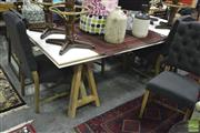 Sale 8331 - Lot 1551 - Trestle Style Dining Table