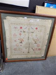 Sale 8362 - Lot 285 - Early Adam &n Eve Embroidery