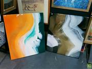 Sale 8582 - Lot 2013 - 2 Resin Artworks Satellite Beach Scenes