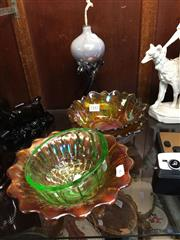 Sale 8659 - Lot 2442 - Collection of Small Carnival Style Glass incl An Art Glass and Uranium Glass Example