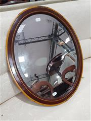 Sale 8740 - Lot 1288 - Timber framed Oval Mirror, 57 x 45cm
