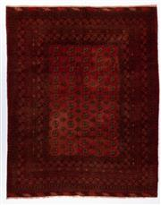 Sale 8800C - Lot 63 - An Afghan Kunduzi 100% Wool On Cotton Foundation And Natural Dyes, 260 x 206cm