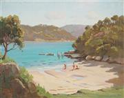 Sale 8838A - Lot 5014 - Erik Langker (2 works) - Pittwater Beach; Through the Trees 29.5 x 37.5cm, each