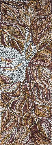 Sale 8875A - Lot 5062 - Rosemary Pitjara (c1965 - ) - Yam Leaves 200 x 75 cm (stretched and ready to hang)