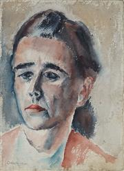 Sale 8908A - Lot 5028 - Desiderius Orban (1884 - 1986) - Portrait of a Young Woman, 1940 37.5 x 27 cm
