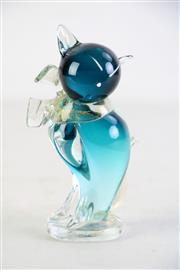 Sale 8948 - Lot 73 - Art Glass Cat (H: 15cm) Possibly Murano