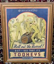 Sale 9002 - Lot 1056 - Vintage Tooheys Roll Out The Barrel War Time Poster (h:58 x w:45cm)