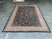 Sale 9059 - Lot 1028 - Cream and Dark Tone Carpet with Light Floral Border and a central Floral Pattern