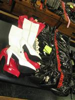 Sale 7926A - Lot 1772 - Four pairs of mistress boots in red, white and black