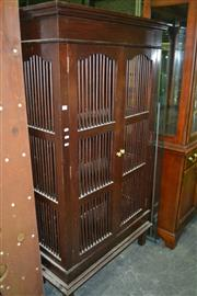 Sale 8093 - Lot 1472 - Teak Fluted Cabinet