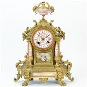 Sale 8372 - Lot 66 - French Marble Mantle Clock