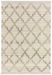 Sale 8651C - Lot 72 - Colorscope Collection; Flatweave Wool and Cotton - White/Brown Rug, Origin: India, Size: 160 x 230cm, RRP: $499