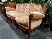 Sale 8769 - Lot 1088 - French Style Carved Timber Three Seater Sofa