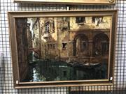 Sale 8824 - Lot 2053 - Artist Unknown - Venice Canal Scene oil on board, 57 x 76.5cm, signed lower right -