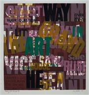 Sale 8980A - Lot 5089 - Una Foster (1912 - 1996) - Getting the Message, 1975 45.5 x 43 cm (frame: 75 x 71 x 3 cm)