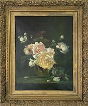 Sale 9044J - Lot 38 - Will Ashton - Floral 26x38cm