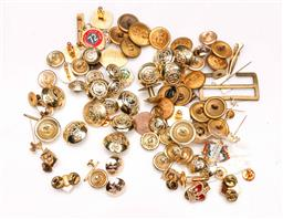 Sale 9104 - Lot 42 - A Collection Of Mostly Military Related Pins, Buttons And Badges