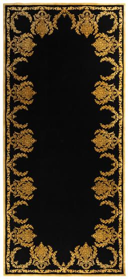 Sale 9140W - Lot 10 - A Designer Rugs Brocade pattern New Zealand wool and bamboo hand tufted rug. 490cm x 220cm RRP $6,058