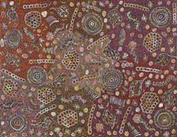 Sale 9171A - Lot 5031 - BELINDA GOLDER KNGWARREYE (1986 - ) Bush Yam Dreaming acrylic on canvas 201 x 155 cm (stretched and ready to hang) signed verso; cer...