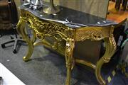 Sale 8031 - Lot 1064 - Marble Top Hall Table on Gilded Base