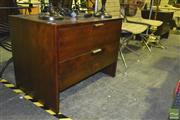 Sale 8227 - Lot 1097 - Pair of Large Timber Bedsides with 2 Drawers