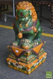 Sale 8267 - Lot 1096 - Large Chinese Pottery Dog of Foo
